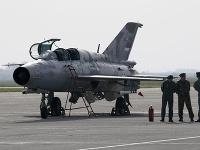 Stíhačka typu MiG-21.