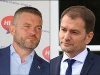Premiér Igor Matovič a predseda strany Hlas Peter Pellegrini