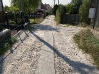 Cesta na Bystrickej ulici v Marianke