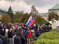 Dnešný protest v Bratislave.