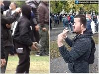 Zadržali dvoch mužov, ktorí na proteste proti premiérovi Igorovi Matovičovi hádzali dlažobné kocky po policajtoch.