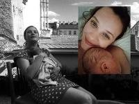 Kristýna Leichtová v lete porodila dcéru Rozárku.