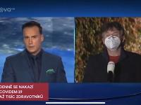 Moderátor Petr Suchoň na svoj skrat v Televíznych novinách doplatil.