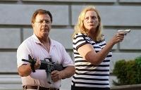 Manželia namierili zbrane proti demonštrantom z BLM