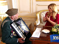 Prezidentka Zuzana Čaputová a Vlado Strmeň.