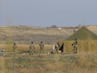 Azerbajdžanskí vojaci na území Náhorného Karabachu