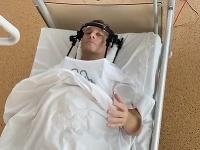 Boris Kollár v nemocnici