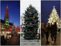 Vianočné ozdobovanie námestí sa začalo.