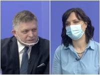 Robert Fico a Veronika Remišová sa stretli v diskusnom dueli.