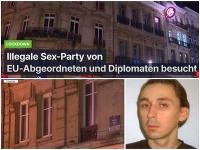 Dawid Manzheley organizoval gay párty v jednom z bruselských bytov.
