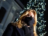 Prezidentka Zuzana Čaputová rozsvietila vianočný stromček