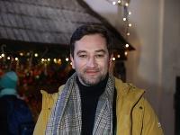 Ondřej Sokol na nakrúcaní novej Evitovky