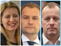 Zuzana Čaputová, Igor Matovič, Boris Kollár,