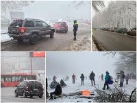 V Bratislave nasnežilo