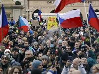 Protest v Prahe