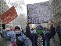 Protest proti novému bezpečnostnému zákonu vo Francúzsku