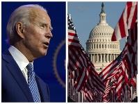 Pred Kapitolom prebiehajú posledné prípravy pred inauguráciou Joa Bidena za amerického prezidenta.
