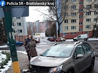Dopravná nehoda na Švabinského ulici v Bratislave