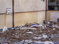 Trosky po explózii v Madride
