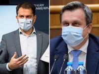 Premiér SR Igor Matovič a predseda SNS Andrej Danko