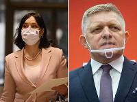 Veronika Remišová a Robert Fico