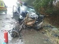 Pri Lutile narazilo auto do stromu