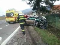 Dopravná nehoda pri Nitrianskych Sučanoch
