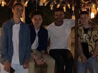 David Beckham so svojími synmi.