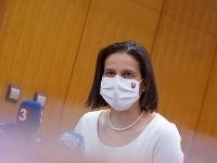 Ministerka spravodlivosti Mária Kolíková po rokovaní vlády