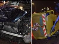 Nehoda auta a sanitky