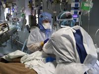 Záber z nemocnice v Lisabone.