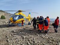 Pád muža zo skaly riešili záchranári minulý týždeň v Maloměřiciach,