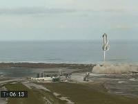 Na snímke z videozáznamu je pristávanie Starship SN10 v americkom Boca Chica.