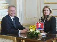 Prezidentka SR Zuzana Čaputová a exprezident Andrej Kiska