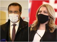 Minister zdravotníctva Marek Krajčí a prezidentka Zuzana Čaputová