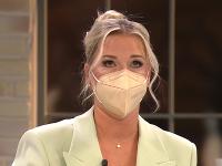 Dominika Cibulková mala v relácii slzy v očiach.
