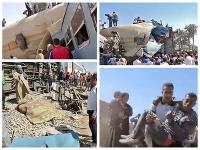 Železničné nešťastie v Egypte