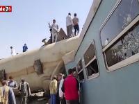 Zrážka dvoch vlakov v Egypte
