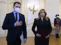 Prezidentka Zuzana Čaputová prijala demisiu Igora Matoviča.