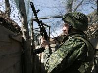 Proruský rebel v Donecku