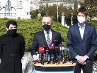 Tlačová konferencia strany PS pri ohlasovaní príchodu Tomáška Valášeka
