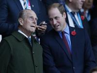 Princ William so starým otcom princom Philipom.