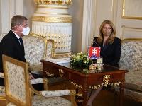 Zuzana Čaputová prijala Vladimíra Lengvarského