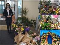 Baťovu podporili stovkami kvetov