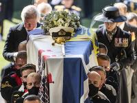 Zábery z pohrebu princa Philipa.