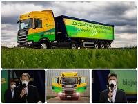 Na Slovensko prichádza prvý ekologický kamión na čistú bionaftu
