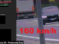 Vodič prekročil povolenú rýchlosť o 90 kilometrov za hodinu