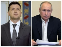 Volodymyr Zelenskyj a Vladimir Putin