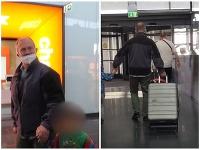 Kotleba na letisku so synom.