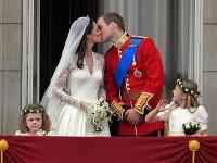 Kate a William počas svojho veľkého dňa.